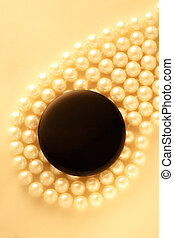 Black blank round badge