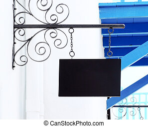 black blank sign