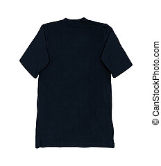 black blank tshirt template isolated on white