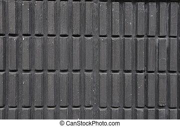 Black block wall, house 's pattern.