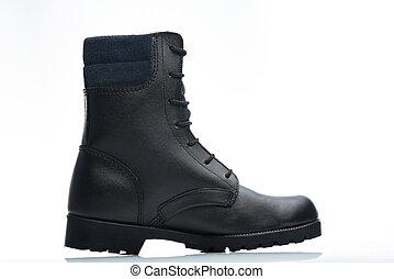 black blue boot