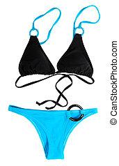 Black Blue Swimwear