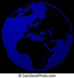 Black & blue world