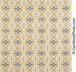 Black, Blue, Yellow Cross Pattern Wallpaper Swatch