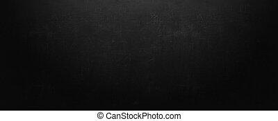 black board and empty chalkboard wall background