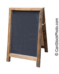 Blank black board sign used for writing notes