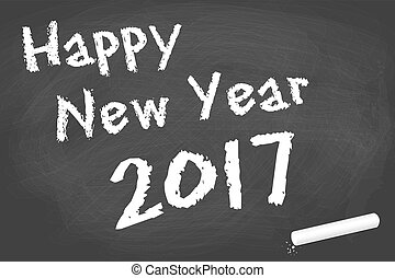 black board for New Year 2017 greetings