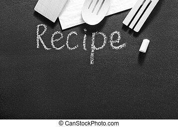 black board for recipe
