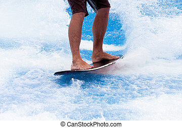 Black Board on Blue Water