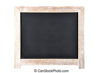 Black board on white background