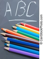 black board with ABC
