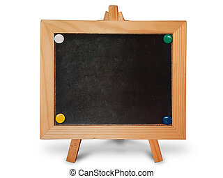 Black board wood frame