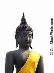 black , boeddha, white.
