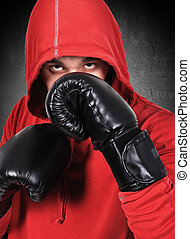 black , bokser, handschoenen