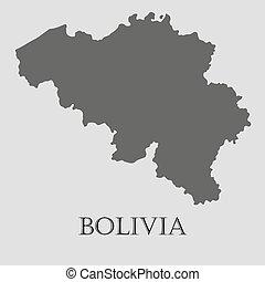 Black Bolivia map - vector illustration