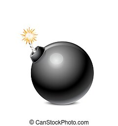 Black Bomb Isolated