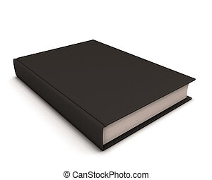 Black book isolated on white.