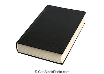 black book isolated on the white background