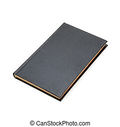Black book - Black hardcover book with blank cover - insert...