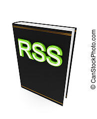 Black book with a green word RSS.