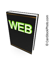 Black book with a green word WEB.