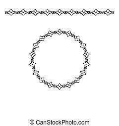 Black border and circle frame