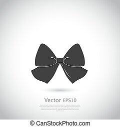 Black bow logo or icon.