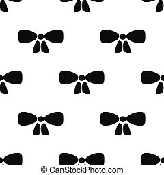 Black Bow tie icon isolated seamless pattern on white background. Vector