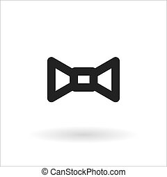 black bow tie vector line icon on white background