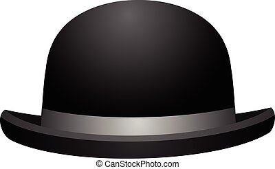 Black bowler hat on a white background vector eps 10