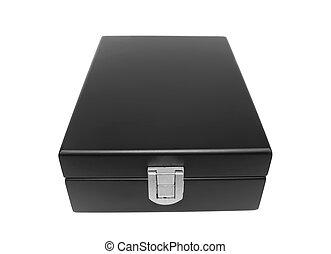 Black box isolated white background