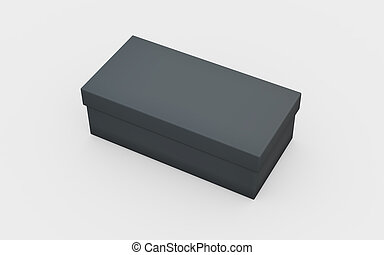 black box view - black cardboard material of rectangle box...