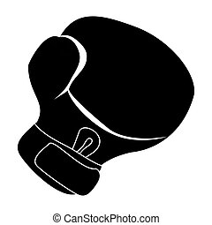 black boxing glove icon design