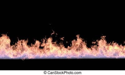 black., brûler, isolé, ligne, mouvement, lent