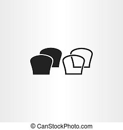 black bread icons vector