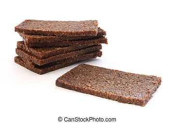 Black bread - Stack of black dark bread loafs called ...