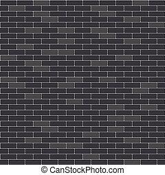 Black brick wall seamless pattern