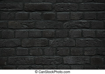 black brick wall texture - black brick wall background or...