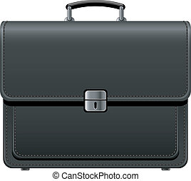 Black Brief Case over white. EPS 8, AI, JPEG