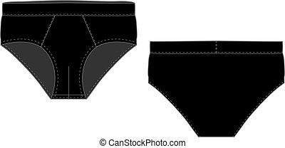 ef9fe223911a Men underwear and undergarment. Stick figures depict a set of ...