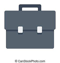 Black Briefcase Illustration
