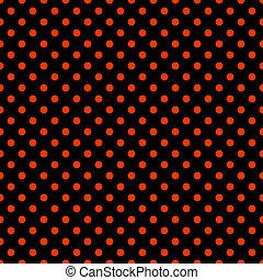 Black & Bright Red Polkadot Pattern - Seamless polkadot ...