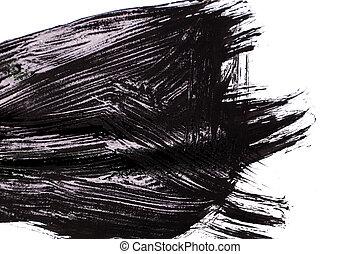 black brush stroke isolated on background
