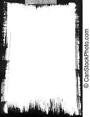 Black Brushstroke Frame
