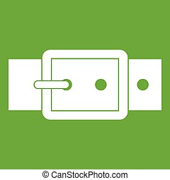 Black buckle belt icon green