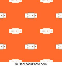 Black buckle belt pattern seamless
