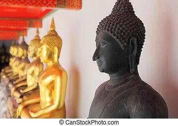 black buddha image