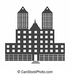 black building on a white background for your business