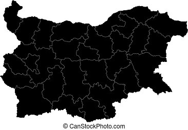 Black Bulgaria map