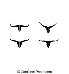 Black Bull head logo vector icon illustration